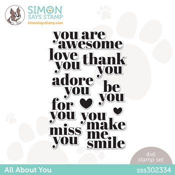 Simon Says Clear Stamps ALL ABOUT YOU sss302334 Make Magic