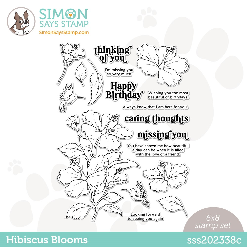 Simon Says Clear Stamps HIBISCUS BLOOMS sss202338c Make Magic zoom image