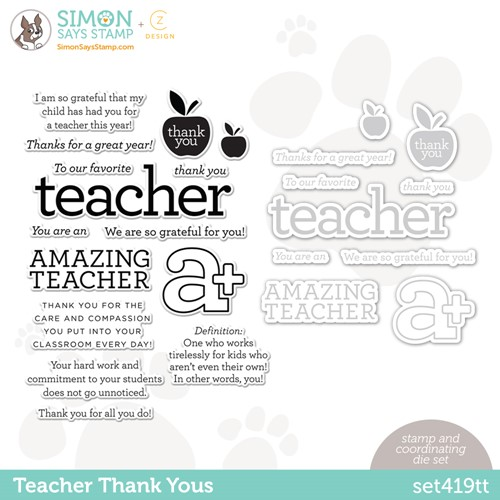 CZ Design Stamps and Dies TEACHER THANK YOUS set419tt Make Magic Preview Image