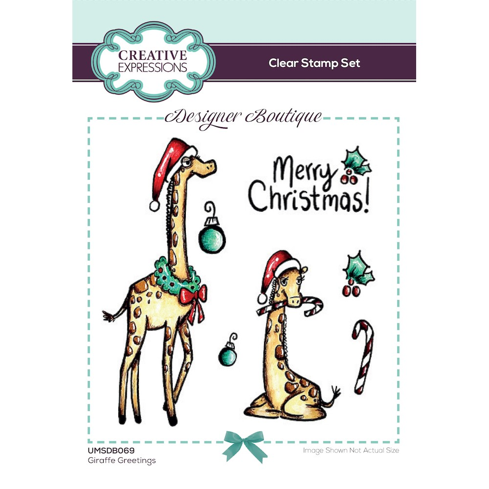 Creative Expressions GIRAFFE GREETINGS Clear Stamps umsdb069 zoom image