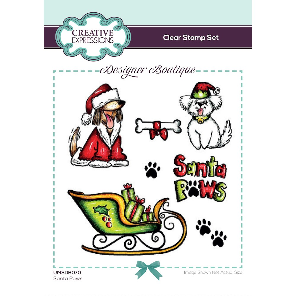 Creative Expressions SANTA PAWS Clear Stamps umsdb070 zoom image