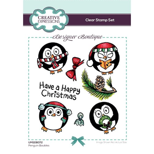 Creative Expressions PENGUIN BAUBLES Clear Stamps umsdb072 Preview Image