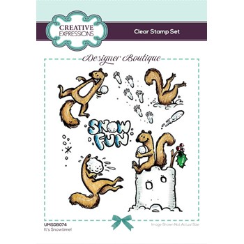 Creative Expressions IT'S SNOWTIME! Clear Stamps umsdb074