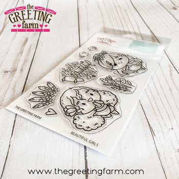 The Greeting Farm BEAUTIFUL GIRLS Clear Stamps tgf598