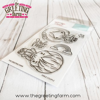 The Greeting Farm SMILE COUPLE Clear Stamps tgf597