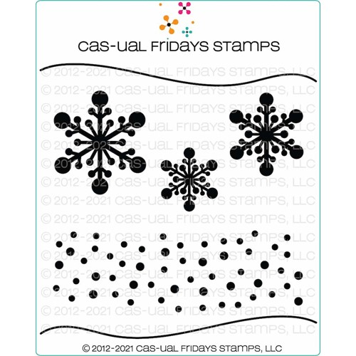 CAS-ual Fridays SNOWFLAKE Stencil cfst2104 Preview Image