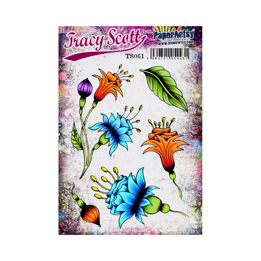 Paper Artsy TRACY SCOTT 061 Cling Stamps ts061 zoom image