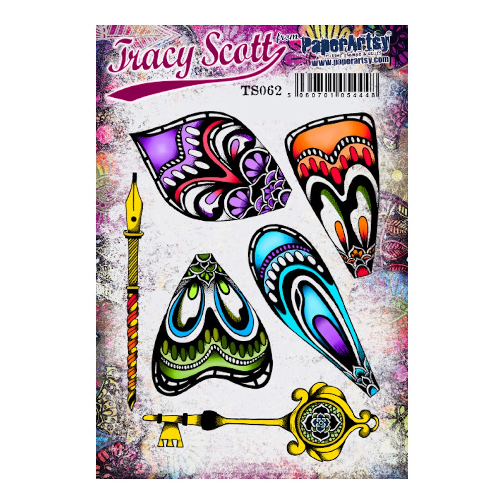 Paper Artsy TRACY SCOTT 062 Cling Stamps ts062 zoom image