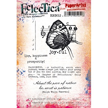 Paper Artsy SARA NAUMANN ECLECTICA3 53 Cling Stamps esn53