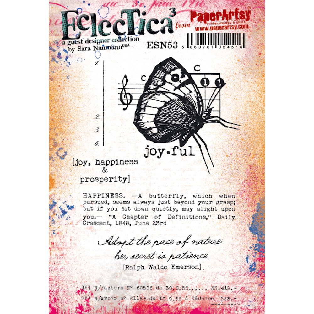 Paper Artsy SARA NAUMANN ECLECTICA3 53 Cling Stamps esn53 zoom image