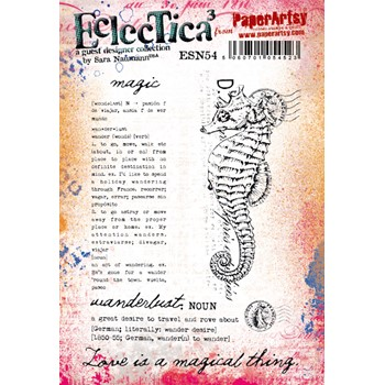 Paper Artsy SARA NAUMANN ECLECTICA3 54 Cling Stamps esn54