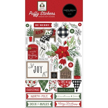 Carta Bella HOME FOR CHRISTMAS Puffy Stickers cbhfc139066