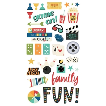 Simple Stories FAMILY FUN 6 x 12 Chipboard Stickers 15614