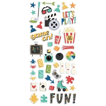 Simple Stories FAMILY FUN Puffy Stickers 15619