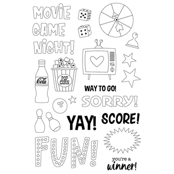 Simple Stories FAMILY FUN Clear Stamp Set 15623