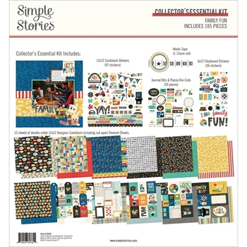 Simple Stories FAMILY FUN 12 x 12 Collector's Essential Kit 15628
