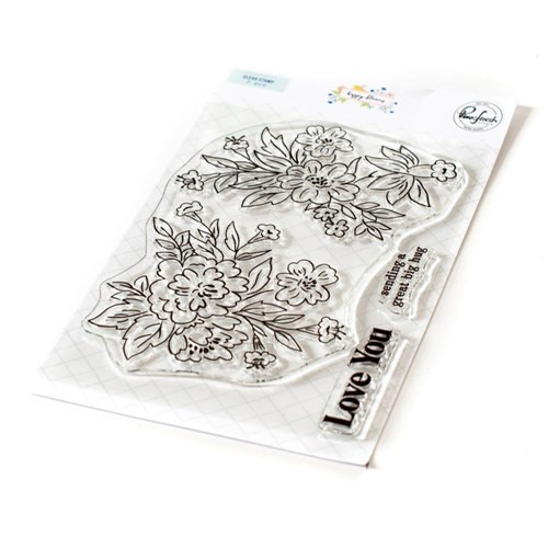 PinkFresh Studio HAPPY BLOOMS Clear Stamp Set 120821 Preview Image