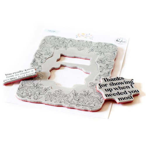 PinkFresh Studio HAPPY BLOOMS FRAME Cling Stamp 121121 Preview Image