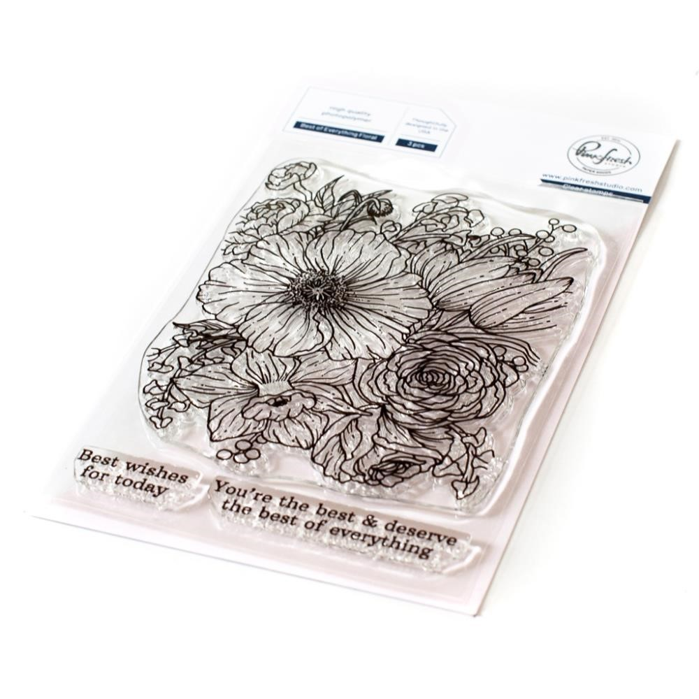 PinkFresh Studio BEST OF EVERYTHING FLORAL Clear Stamp Set 121721 zoom image