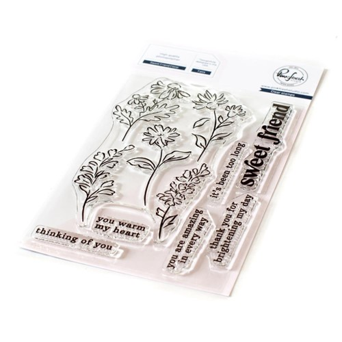 PinkFresh Studio SWEET FRIEND FLORAL Clear Stamp Set 121921 Preview Image