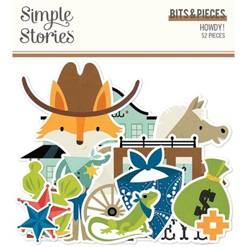 Simple Stories HOWDY Bits And Pieces 15415
