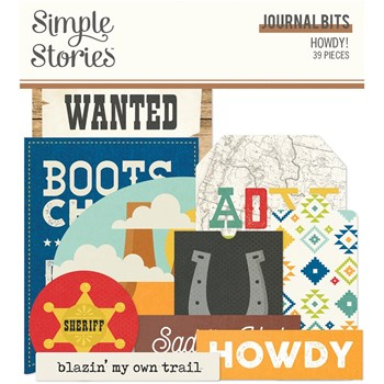Simple Stories HOWDY Journal Bits And Pieces 15416