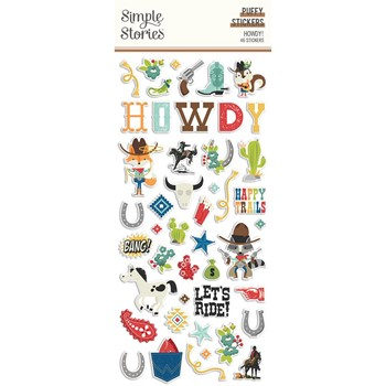 Simple Stories HOWDY Puffy Stickers 15418