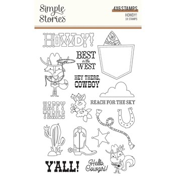 Simple Stories HOWDY Clear Stamp Set 15422