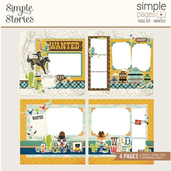 Simple Stories HOWDY WANTED Page Kit 15424