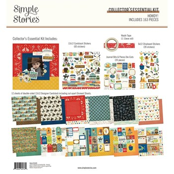 Simple Stories HOWDY 12 x 12 Collector's Essential Kit 15425