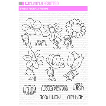 Clearly Besotted SWEET FLORAL FRIENDS Clear Stamps