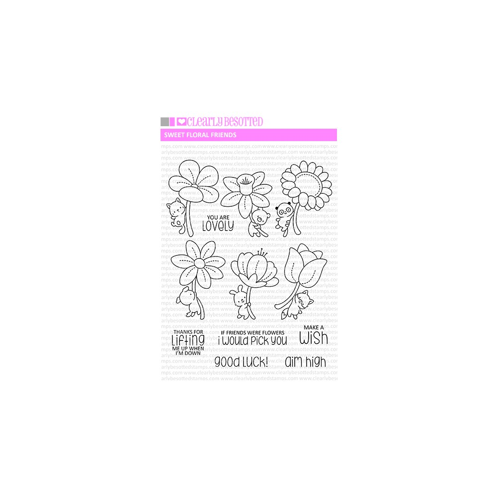 Clearly Besotted SWEET FLORAL FRIENDS Clear Stamps zoom image