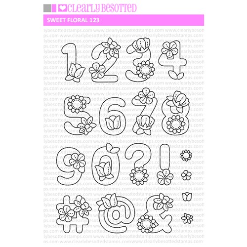Clearly Besotted SWEET FLORAL 123 Clear Stamps Preview Image