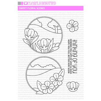Clearly Besotted SWEET FLORAL SCENES 1 Clear Stamps