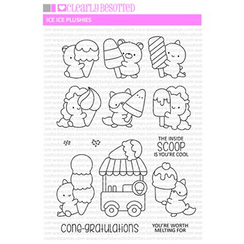 Clearly Besotted ICE ICE PLUSHIES Clear Stamps