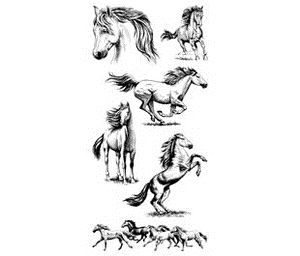 Inkadinkado Clear Stamps HORSES Mustang 99540 Preview Image