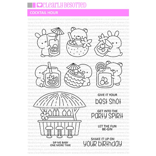 Clearly Besotted COCKTAIL HOUR Clear Stamps Preview Image