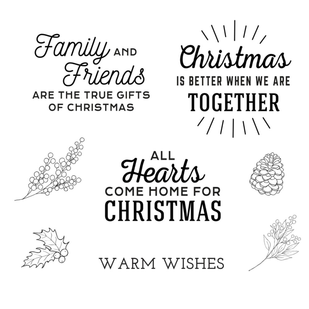 STP-062 Spellbinders HOME FOR CHRISTMAS SENTIMENTS Clear Stamps zoom image