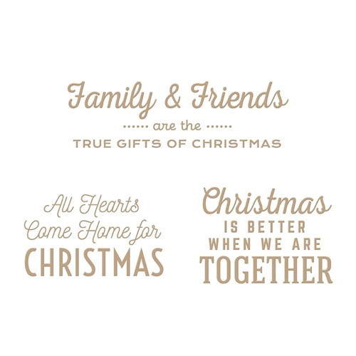 GLP-294 Spellbinders GIFTS OF CHRISTMAS SENTIMENTS Glimmer Hot Foil Plates Preview Image