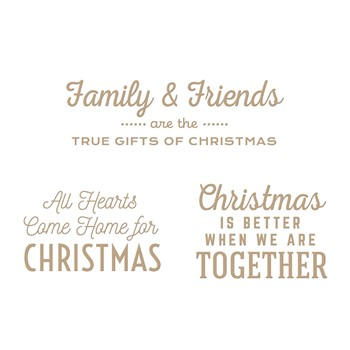 GLP-294 Spellbinders GIFTS OF CHRISTMAS SENTIMENTS Glimmer Hot Foil Plates