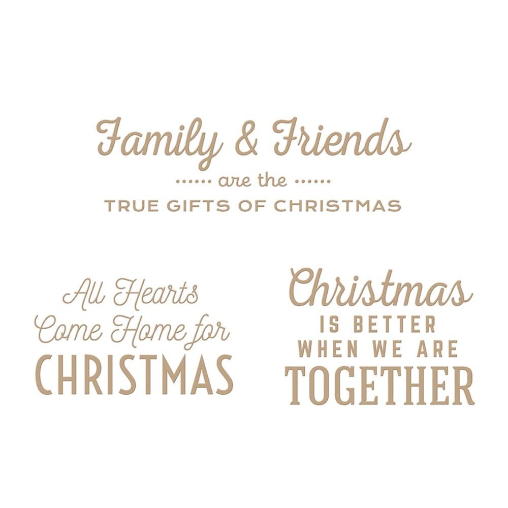 GLP-294 Spellbinders GIFTS OF CHRISTMAS SENTIMENTS Glimmer Hot Foil Plates zoom image