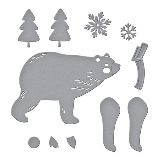 S3-415 Spellbinders CHILL BEAR Etched Dies Preview Image