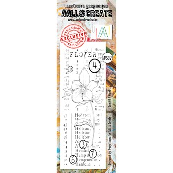 AALL & Create GEM OF A PLANT BORDER Clear Stamp aall539