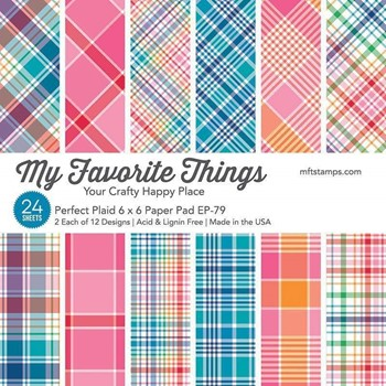 My Favorite Things PERFECT PLAID 6x6 Inch Paper Pad ep79