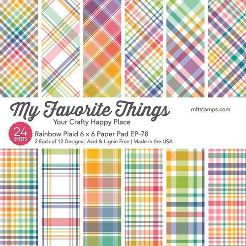 My Favorite Things RAINBOW PLAID 6x6 Inch Paper Pad ep78 Preview Image
