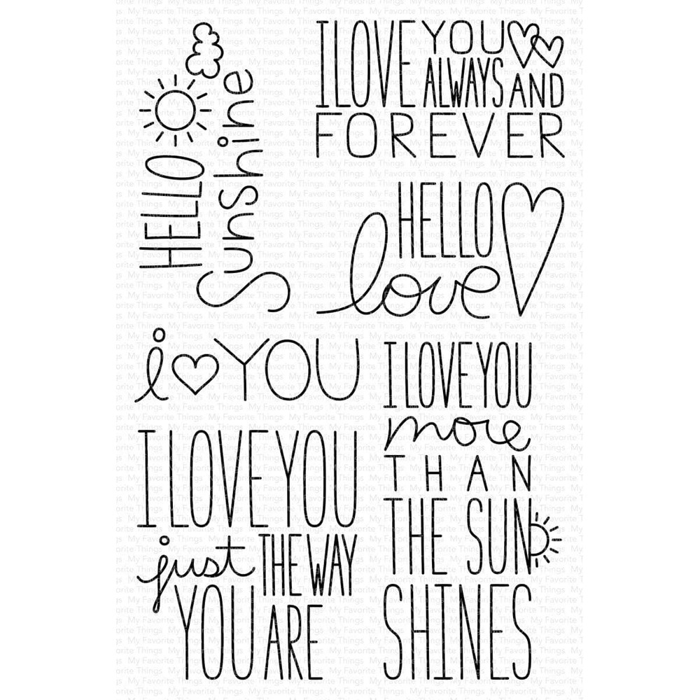 My Favorite Things I LOVE YOU MORE Clear Stamps mstn001 zoom image