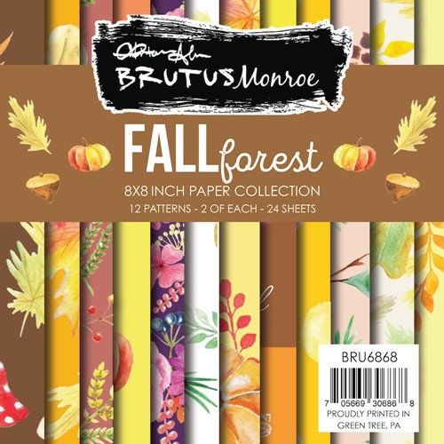 Brutus Monroe FALL FOREST 8x8 Paper Pad bru6868 Preview Image