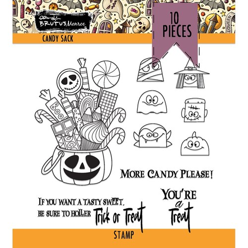 Brutus Monroe CANDY SACK Clear Stamps bru6554 Preview Image
