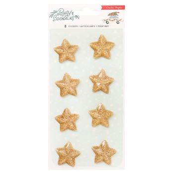 Crate Paper BUSY SIDEWALKS Resin Star Stickers 34010606