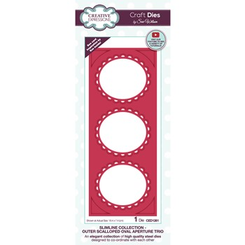 Creative Expressions OUTER SCALLOPED OVAL APERTURE TRIO Sue Wilson Slimline Die ced1261